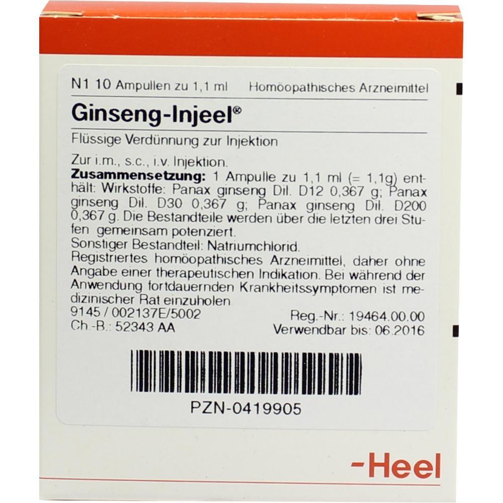 Biologische Heilmittel Heel GmbH GINSENG INJEEL Ampullen 00419905