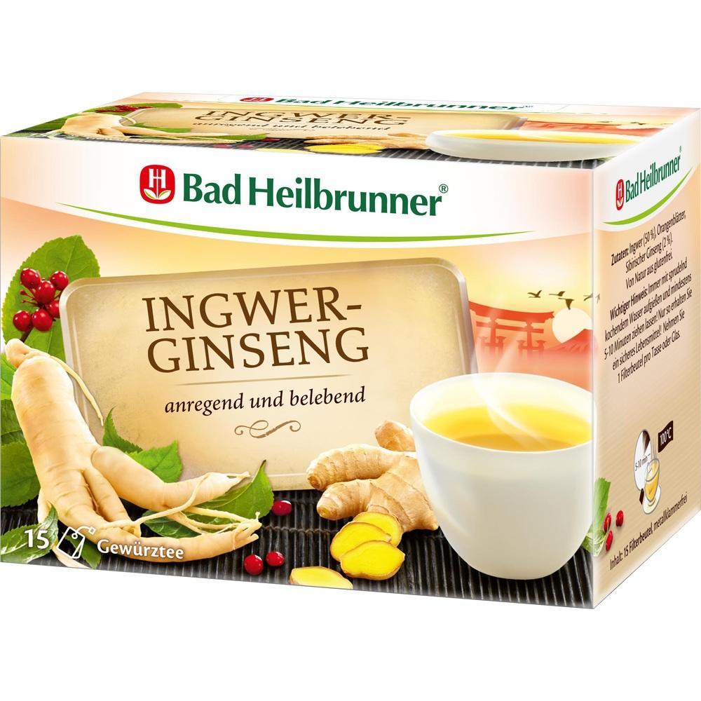 Bad Heilbrunner Naturheilmittel BAD HEILBRUNNER Tee Ingwer Ginseng Filterbeutel 02437511