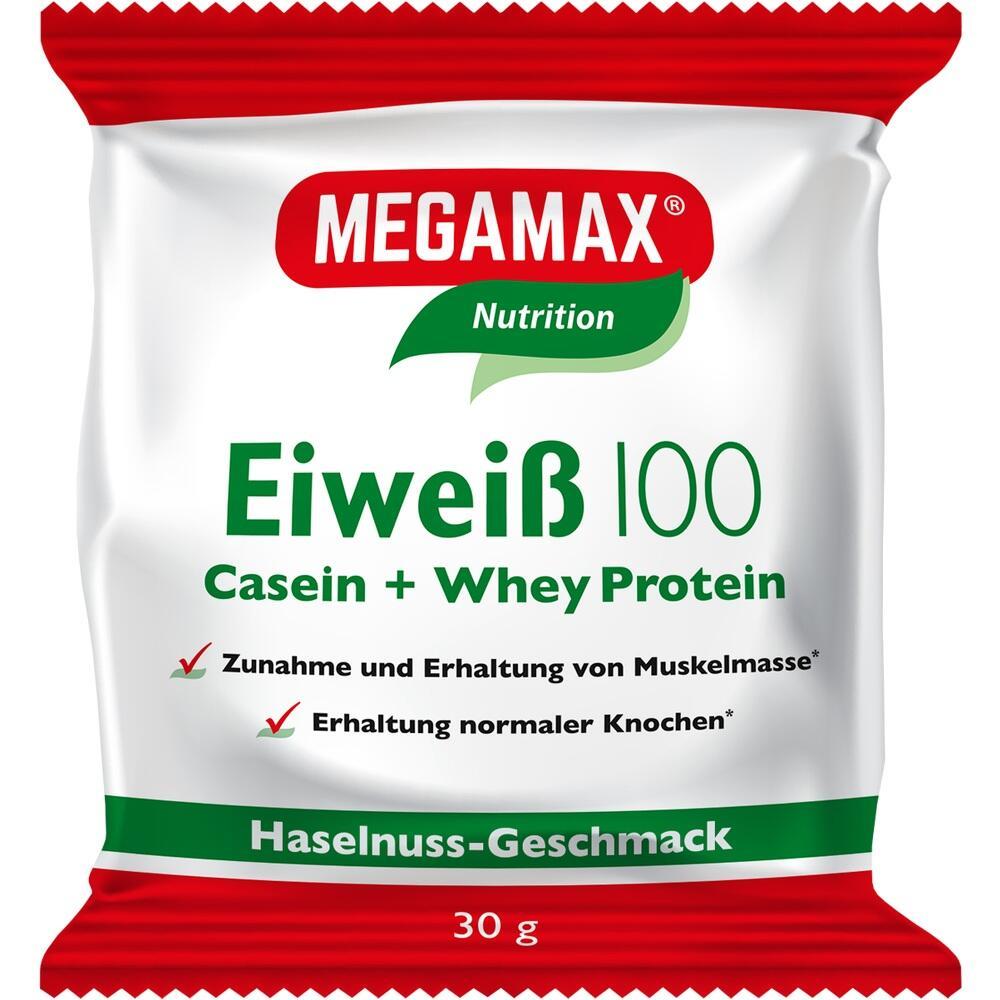 Megamax B.V. Eiweiss 100 Haselnuss Megamax Pulver 12772239