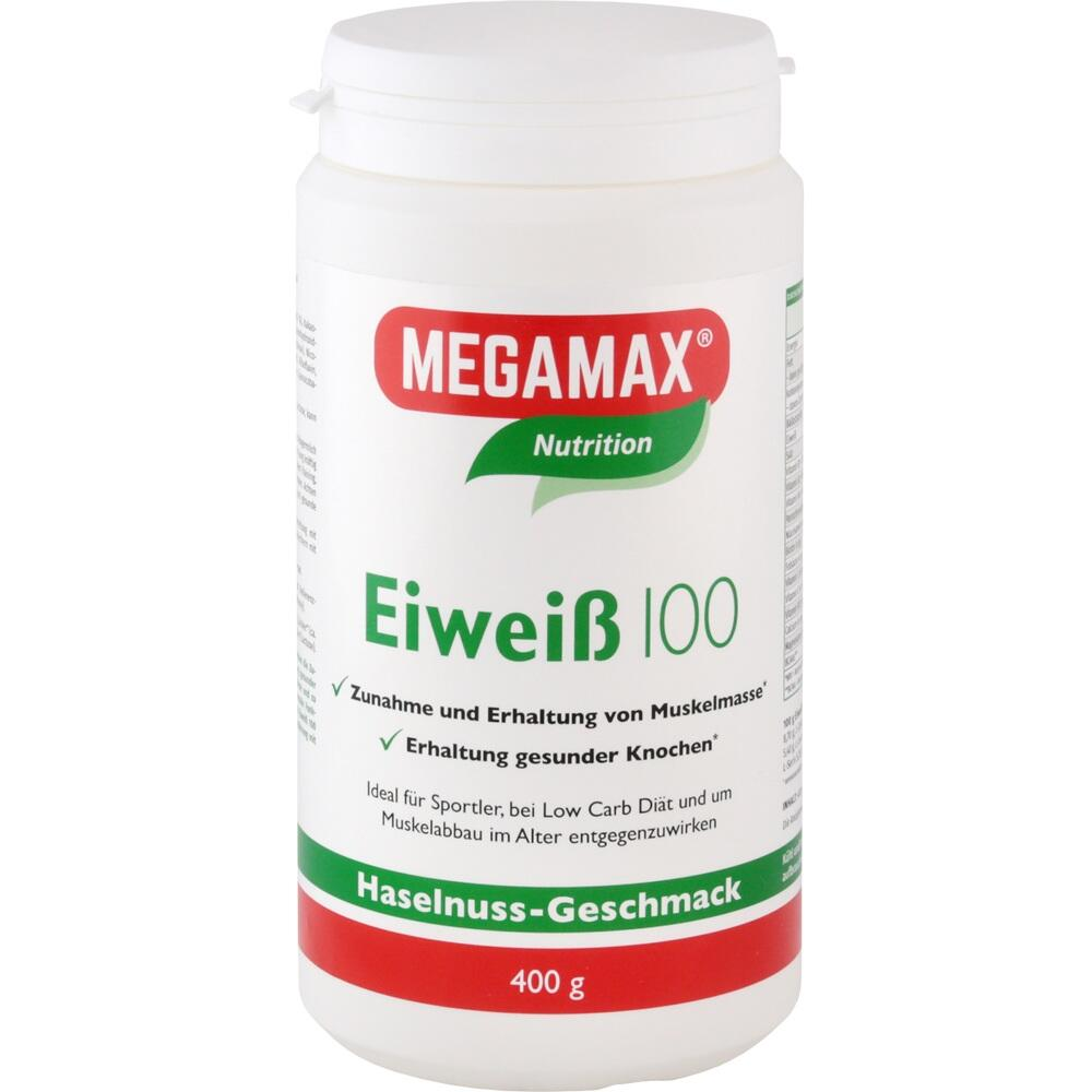 Megamax B.V. Eiweiss 100 Haselnuss Megamax Pulver 12772245