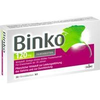 Abbildung Binko 120mg Filmtabletten