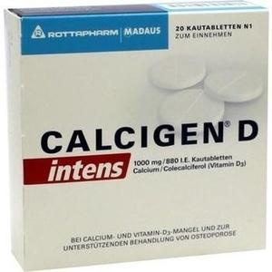 CALCIGEN D intens 1000 mg-880 I.E. Kautabletten Preisvergleich