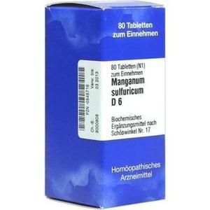 BIOCHEMIE  17 Manganum Sulf. D 6 Tabl. Schüßler Salze ISO Preisvergleich