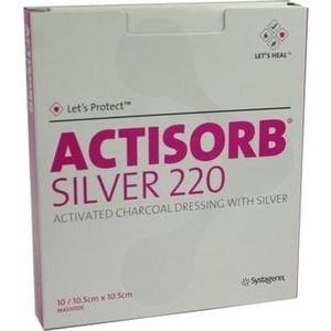Actisorb 220 Silver 10,5x10,5 Cm Steril Preisvergleich