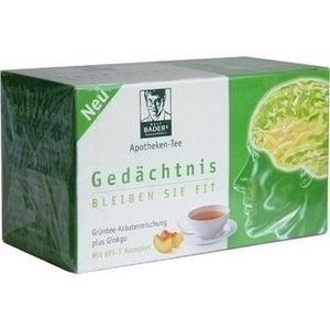 BADERS Apotheken Tee Gedaechtnis Filterbtl. Preisvergleich