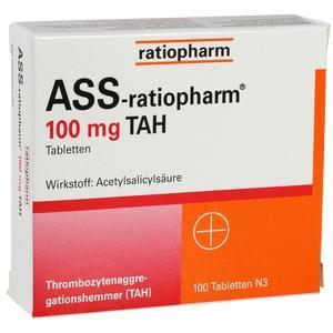 Ass Ratiopharm 100 Tah Preisvergleich