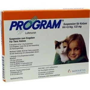 PROGRAM Suspens.f.Katzen b.4,5 kg-133 mg Amp. Preisvergleich