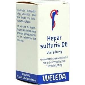 Hepar Sulfuris D 6 Trit.