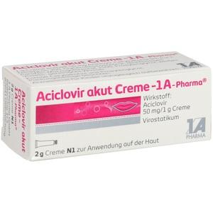 Aciclovir Akut Creme 1a Ph Preisvergleich
