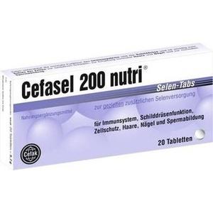 CEFASEL 200 nutri Selen Tabs Tabl. Preisvergleich