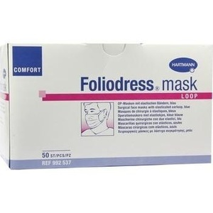 FOLIODRESS mask Comfort loop blau OP Masken