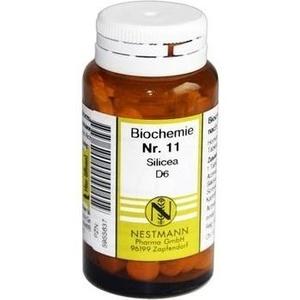 BIOCHEMIE   11 Silicea D 6 Tabl. Schüßler Salze Nestmann Schüßler Salze Nestma Preisvergleich