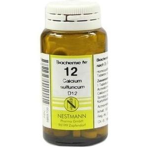 BIOCHEMIE   12 Calcium Sulfuricum  Schüßler Salze Nestmann Schüßler Salze Nest Preisvergleich