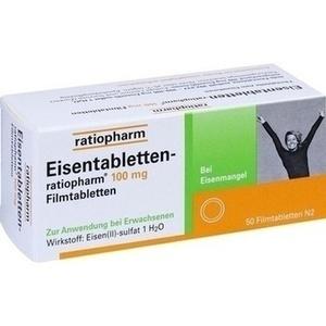 EISENTABLETTEN ratiopharm 100 mg Filmtabl. Preisvergleich