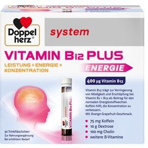 DOPPELHERZ Vitamin B12 Plus system Trinkampullen Preisvergleich