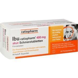IBU RATIOPHARM 400 mg akut Schmerztbl. Filmtabl. 50 St Preisvergleich