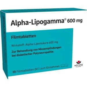 ALPHA LIPOGAMMA 600 mg Filmtabletten 30 St Preisvergleich