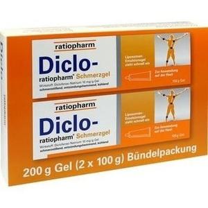 DICLO RATIOPHARM Schmerzgel Bündelpackung 2X100 g