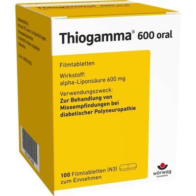 thiogamma 600 oral beipackzettel informationen apotheken umschau. Black Bedroom Furniture Sets. Home Design Ideas