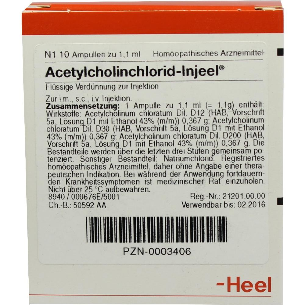 00003406, ACETYLCHOL INJ HOM ALL, 10 ST