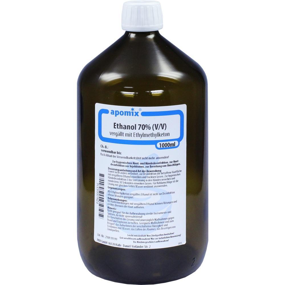 00005316, Ethanol MEK denaturatum 70%, 1 L