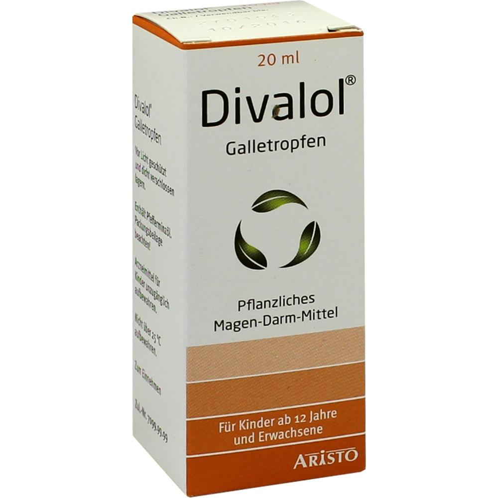 00006161, Divalol Galletropfen, 20 ML