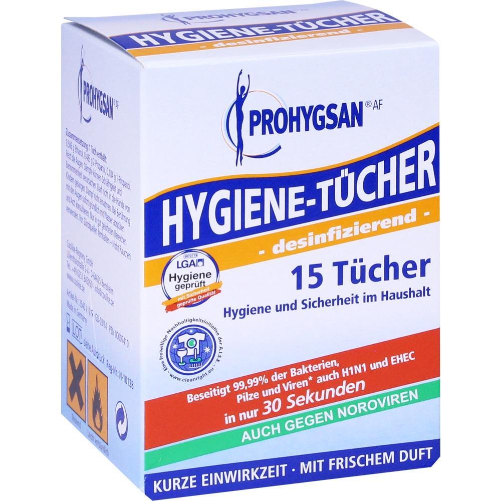 00007410, Prohygsan Hygienetücher AF-desinfizierend-, 15 ST