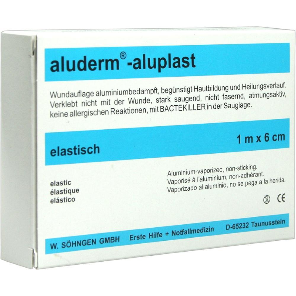 00007806, Aluderm Aluplast Wundverb Pflast elast 1mx6cm, 1 ST