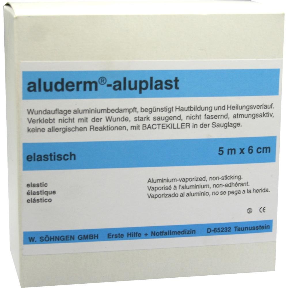 00007835, Aluderm Aluplast Wundverb Pflast elast 5mx6cm, 1 ST