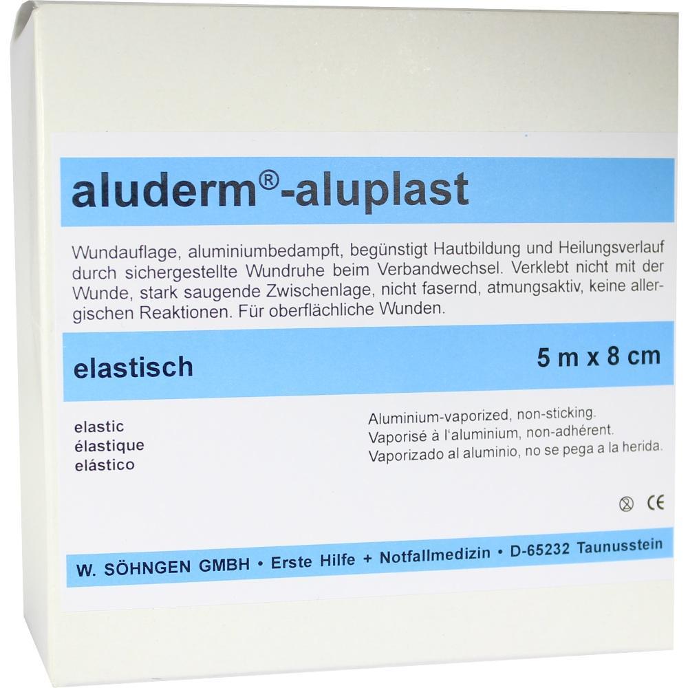 00007841, Aluderm Aluplast Wundverb Pflast elast 5mx8cm, 1 ST
