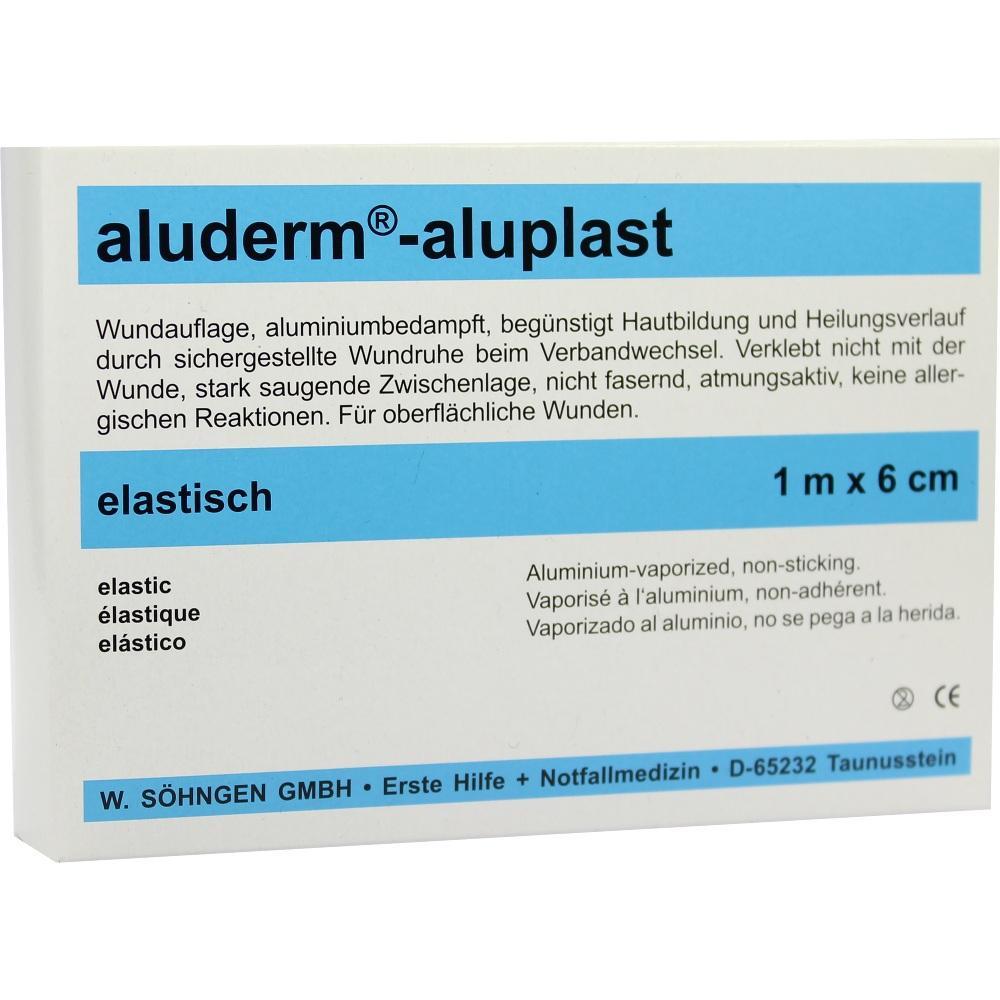 00007858, Aluderm Aluplast Wundverb Pflast stabil 1mx6cm, 1 ST