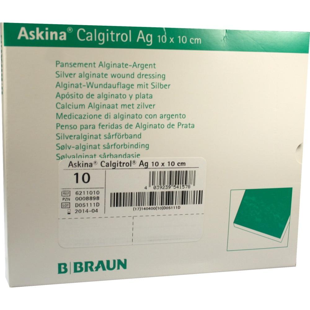 00008898, Askina Calgitrol Ag 10x10cm, 10 ST