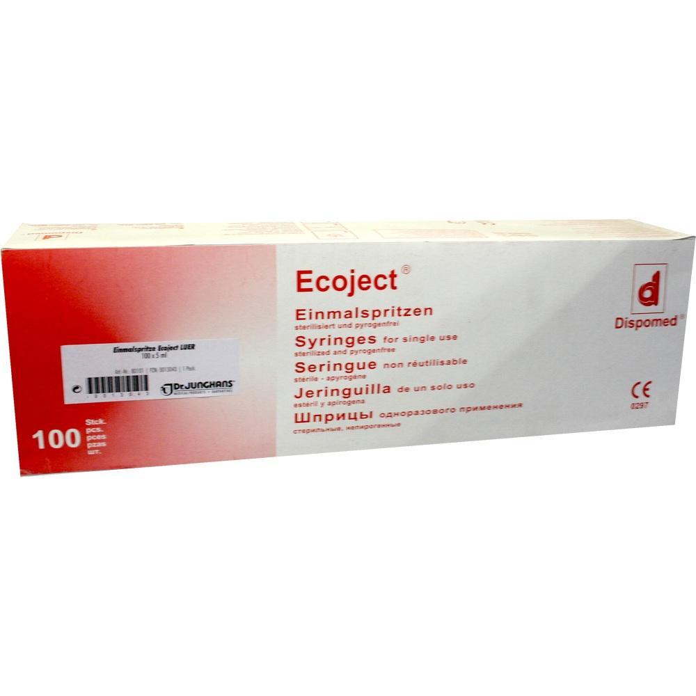 00013043, SPRITZEN EINMAL LUER ECOJECT, 100X5 ML