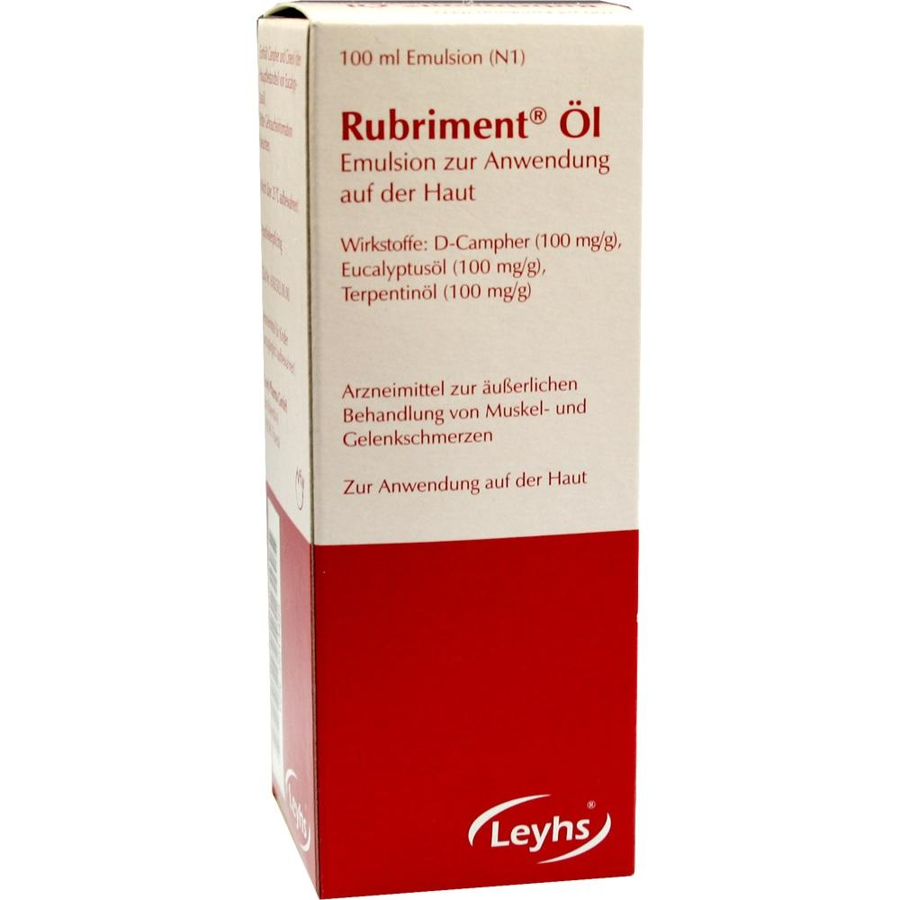 00014485, Rubriment Öl, 100 ML