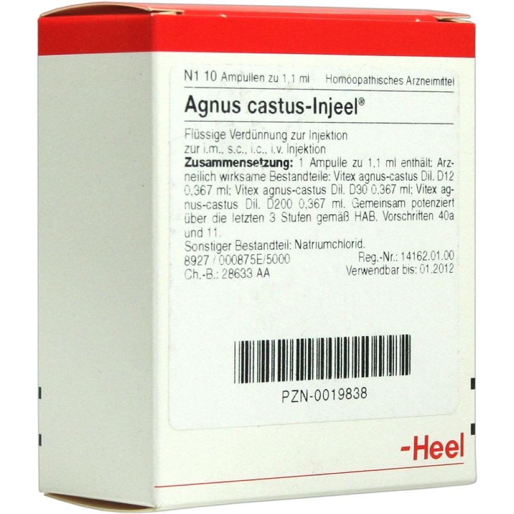00019838, AGNUS CASTUS INJ, 10 ST