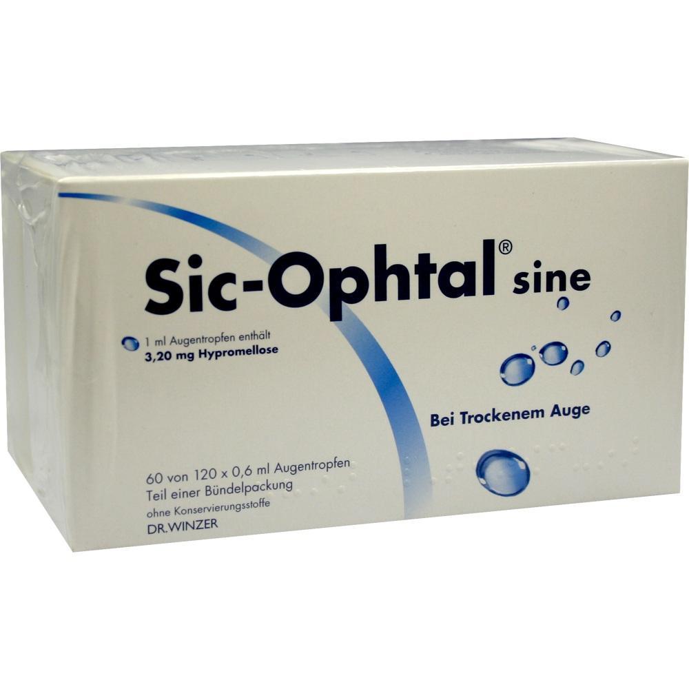 00028814, Sic-Ophtal sine, 120X0.6 ML