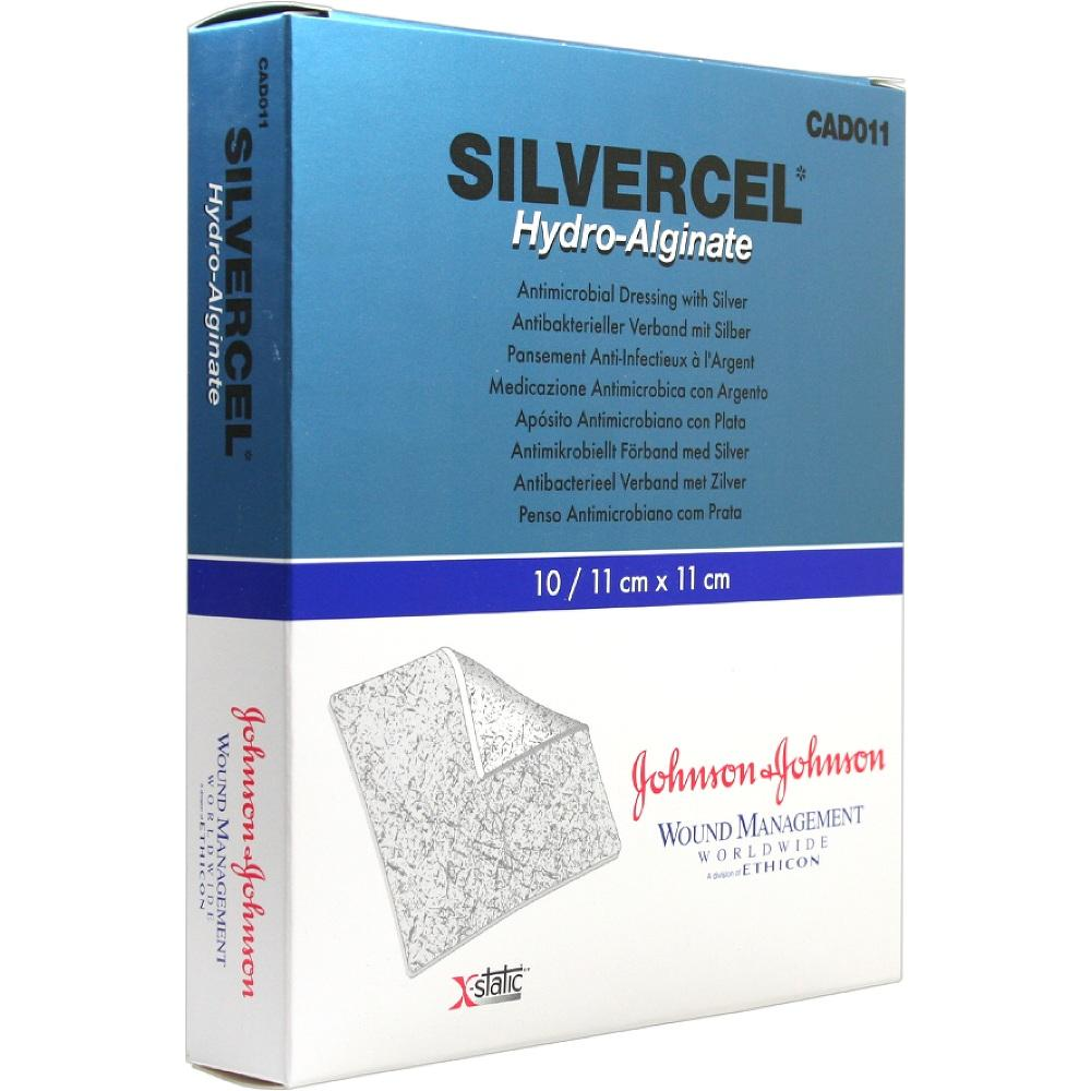 00032164, SILVERCEL Hydroalginat Verband 11x11cm, 10 ST