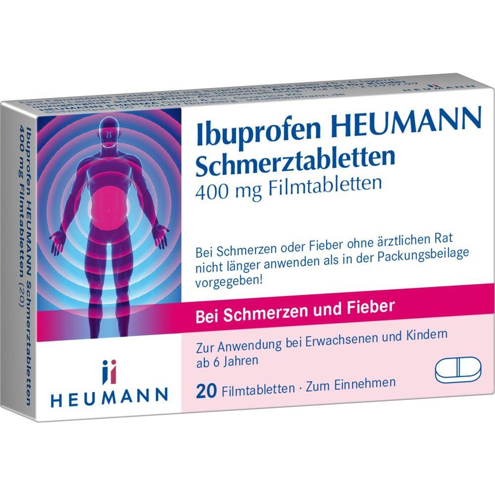 00040554, Ibuprofen Heumann Schmerztabletten 400MG FILMTABLE, 20 ST