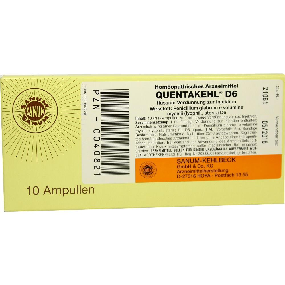 00040821, QUENTAKEHL D 6 Injektion, 10X1 ML