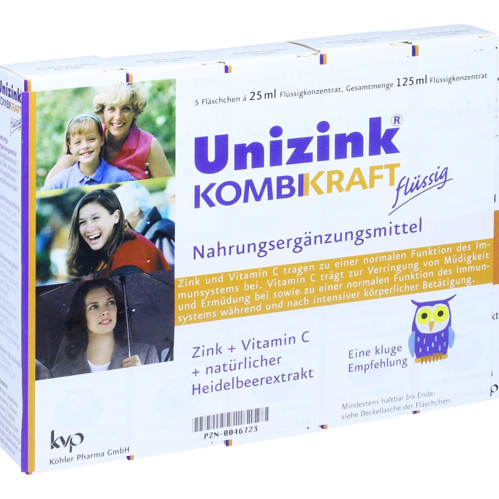 00046723, Unizink Kombikraft, 5X25 ML