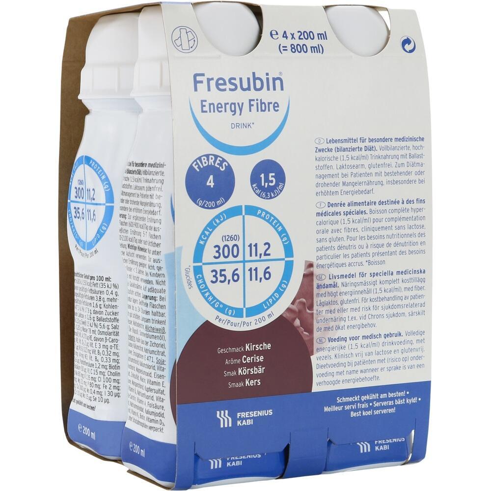 00063756, Fresubin energy fibre DRINK Kirsche Trinkflasche, 4X200 ML