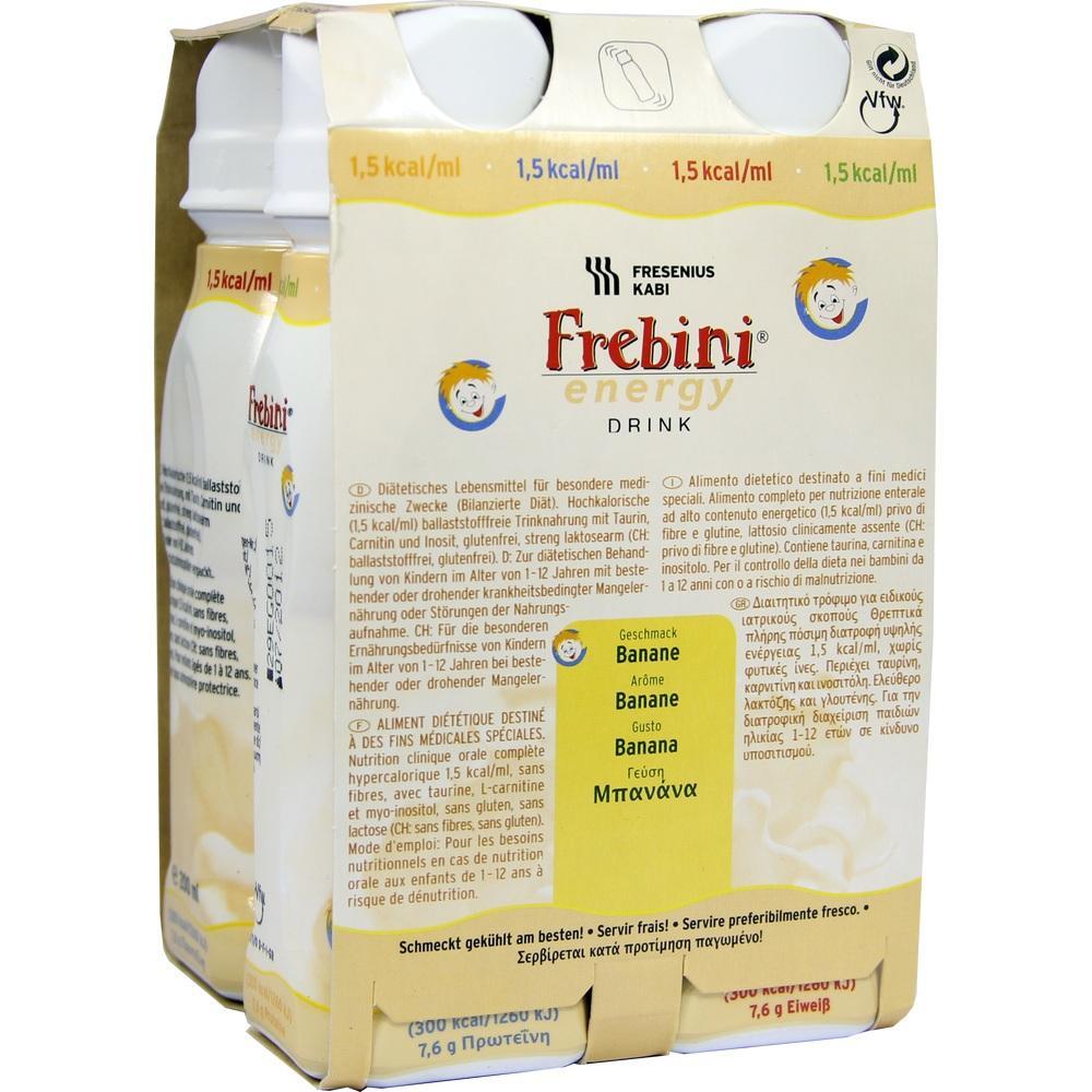 00063791, Frebini energy DRINK Banane Trinkflasche, 4X200 ML