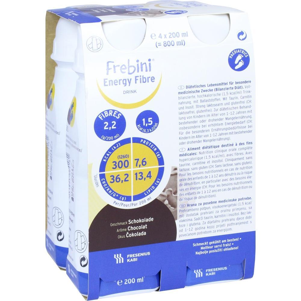 00066068, Frebini energy fibre DRINK Schokolade Trinkflasche, 4X200 ML
