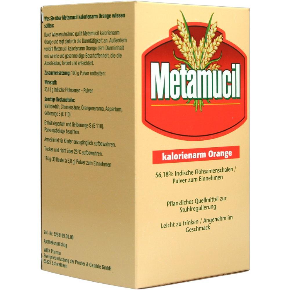00067286, METAMUCIL kalorienarm Orange, 30X5.8 G