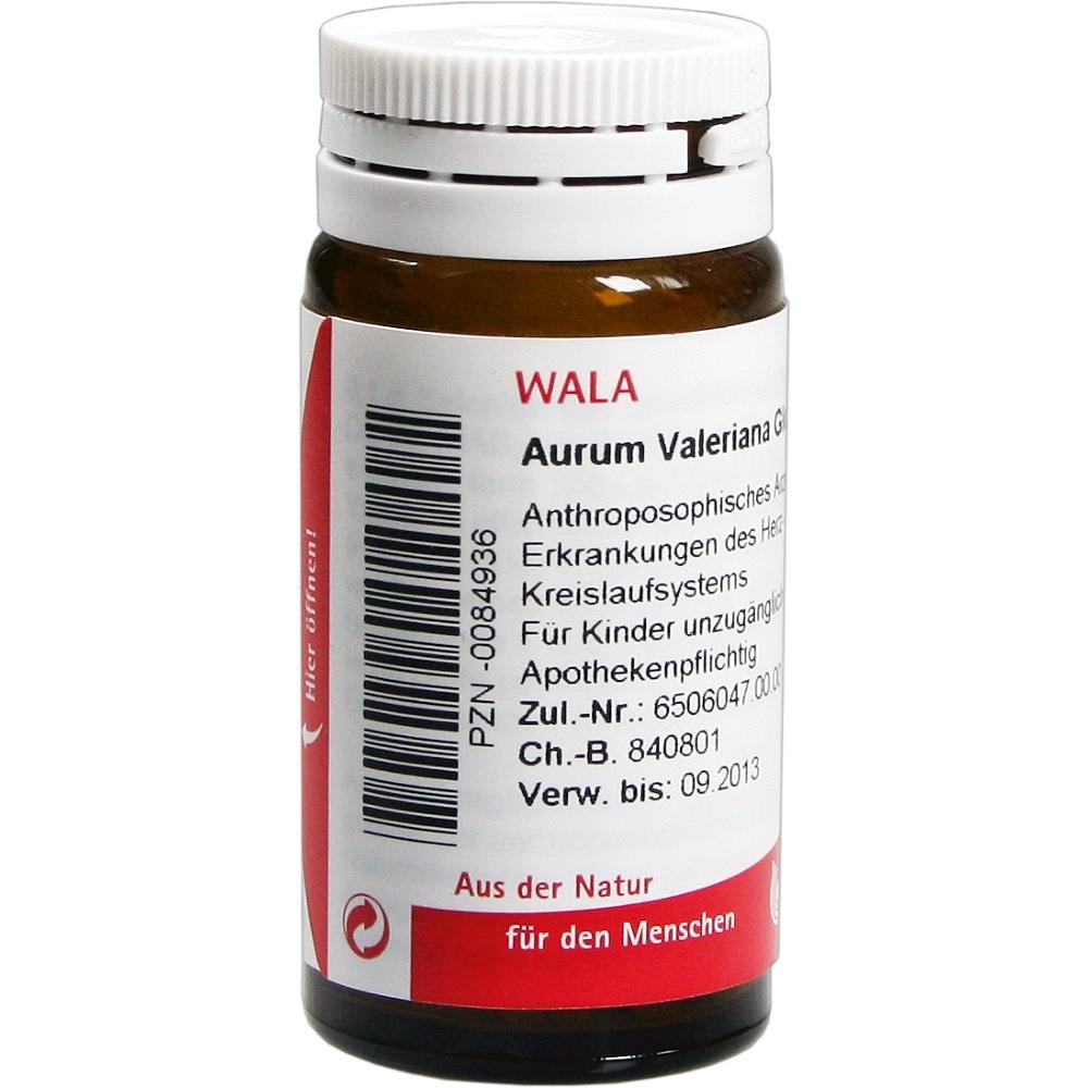 00084936, Aurum Valeriana Globuli velati, 20 G