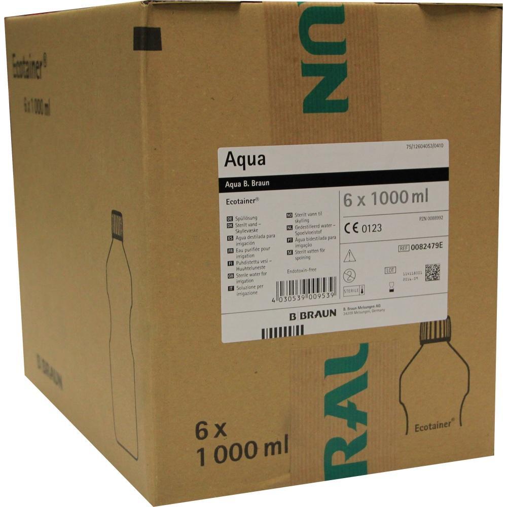 00088992, Aqua B.Braun Spüllösung Kunststoff Flasche, 6X1000 ML
