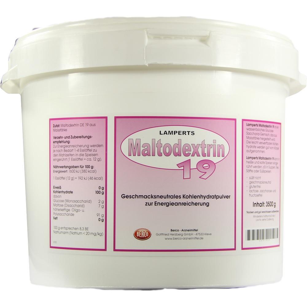 00091623, Maltodextrin 19 Lamperts, 3500 G