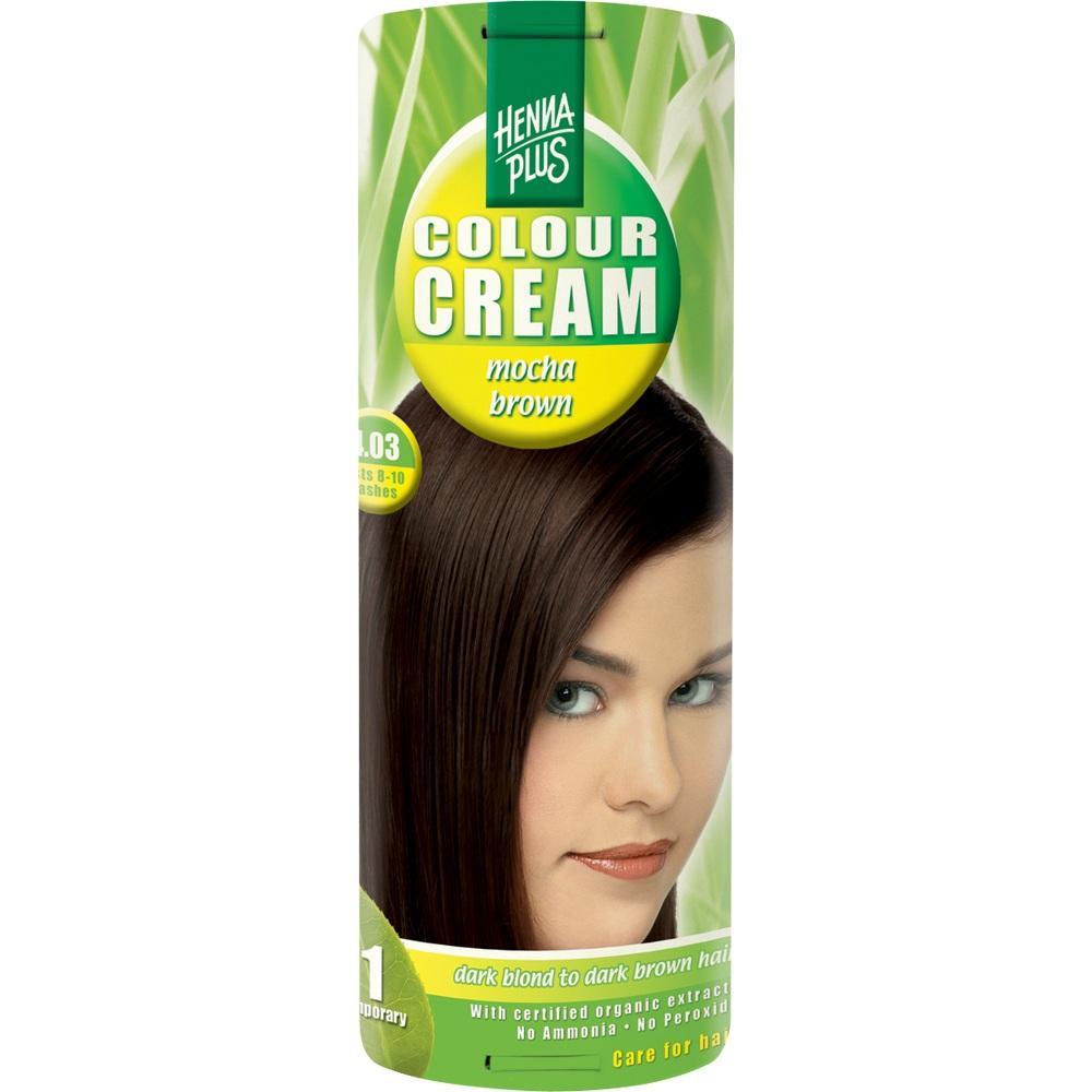 00099240, Hennaplus Colour Cream Mocha Brown 4.03, 60 ML