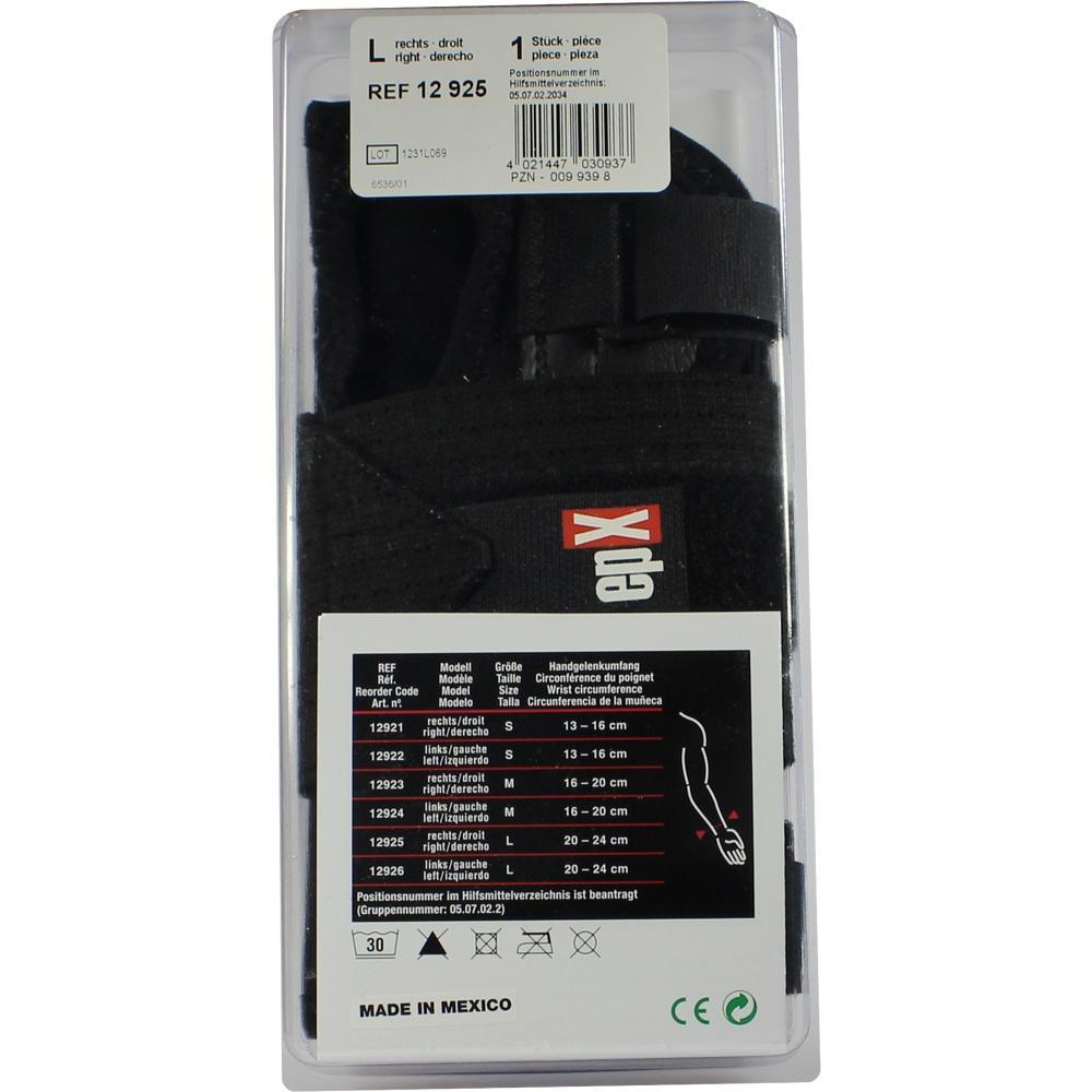 00099398, epX Wrist Control Handgelenkorthese Gr. L rechts, 1 ST