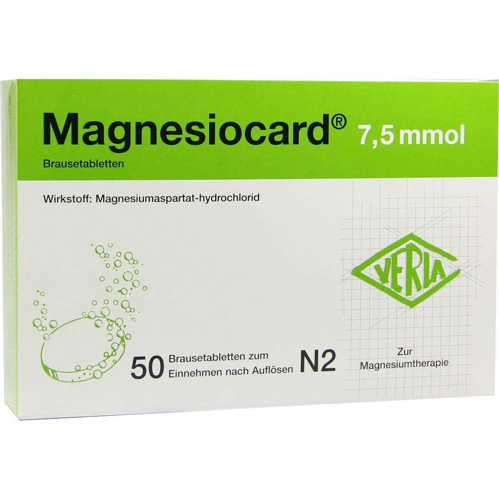 00110295, Magnesiocard 7.5 mmol, 50 ST